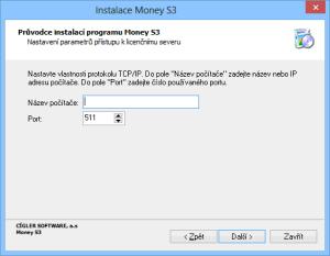 Nastavení parametrů přístupu k licenčnímu serveru